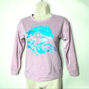 Frozen ll pink crewneck spirit water Elsa's horse